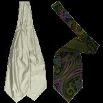 Schleifen, Krawatten, Ascots