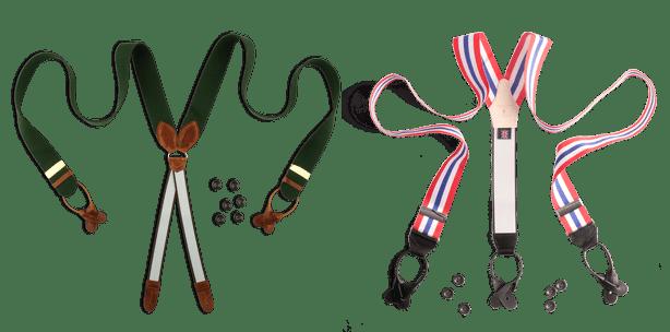 Hosenträger im X-Stil und Hosenträger im Y-Stil
